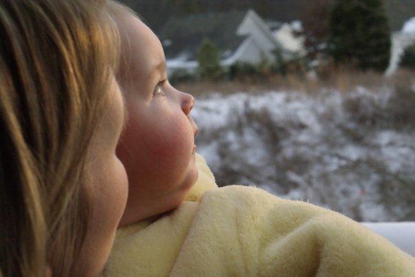 Karis' first snow